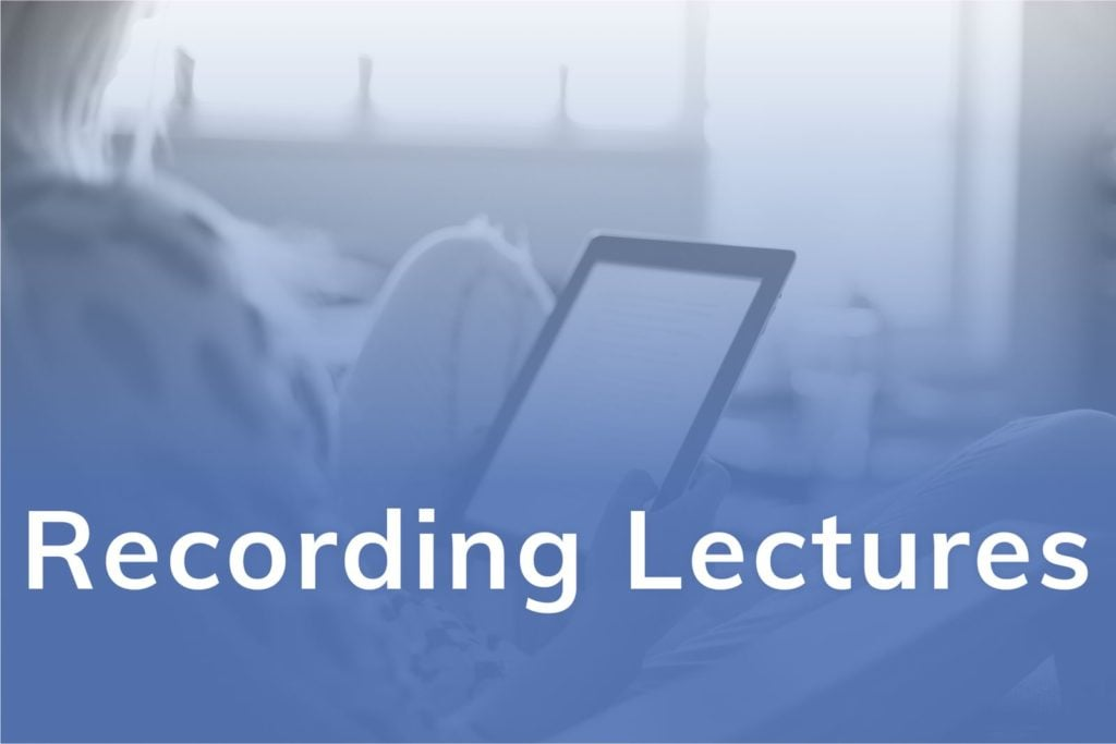 Recording Lectures
