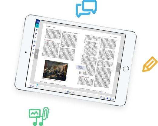 Image of school tablet reader
